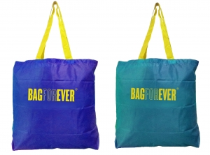 Bagforever Small Shopping Bags Pack Of 2 (Assorted Color)