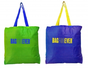 Bagforever Small Shopping Bags (Pack Of 2) 6 Months Warranty In (Assorted Color)