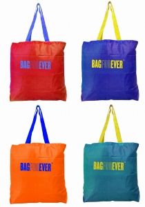 Reusable Small Shopping Bags (Pack of 4) (Assorted Colors)  6 Months Warranty