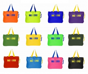 Bagforever Shopping Bag (Pack of 12) for Grocery,vegetables and apparels  (6 Months Warranty) Assorted Color