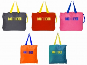 Pack of 5 (6 months warranty) Strong Shoulder Strap Shopping Bags