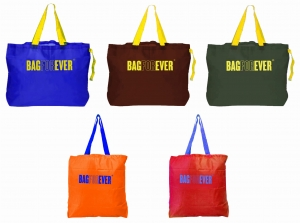 Pack of 5 (6 months warranty) Ecofriendly Foldable Shopping Bags