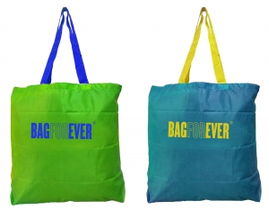 Bagforever Small Shopping Bags For Large Grocery (Pack Of 2) 6 Months Warranty In Assorted Color