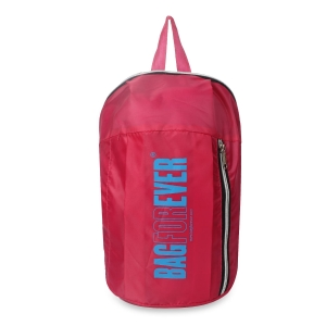 Bagforever 10 LTRS Light Weight (Pink) Rider Backpack Hold Up to 10 kg Made with High Quality Nylon Fabric