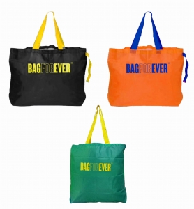 Foldable Shopping Bags (Pack of 3)Eco-Friendly & LightWeight 6 months warranty (Assorted Colour)