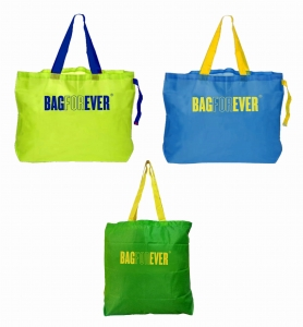 Foldable Zipper Shopping Bag Eco-Friendly Reusable Washable Grocery Bag  (Assorted Colour)